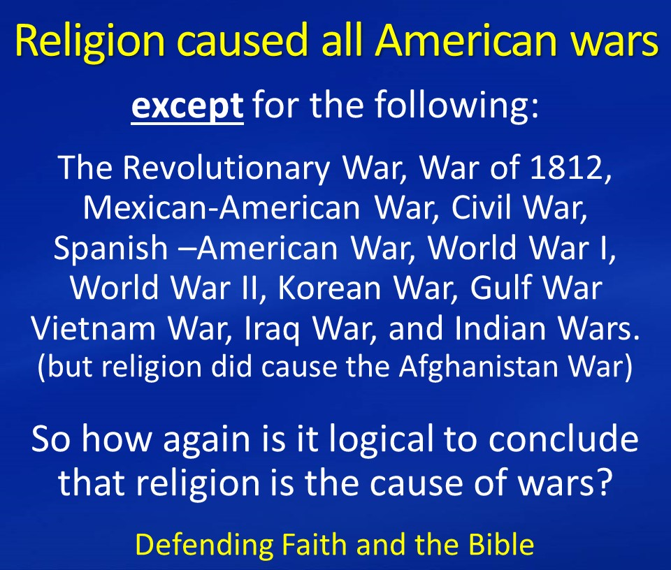 does religion cause war essay Free essay: religion causes war this is a matter of historical fact since time immemorial, men have fought each other in wars caused by religion there are.