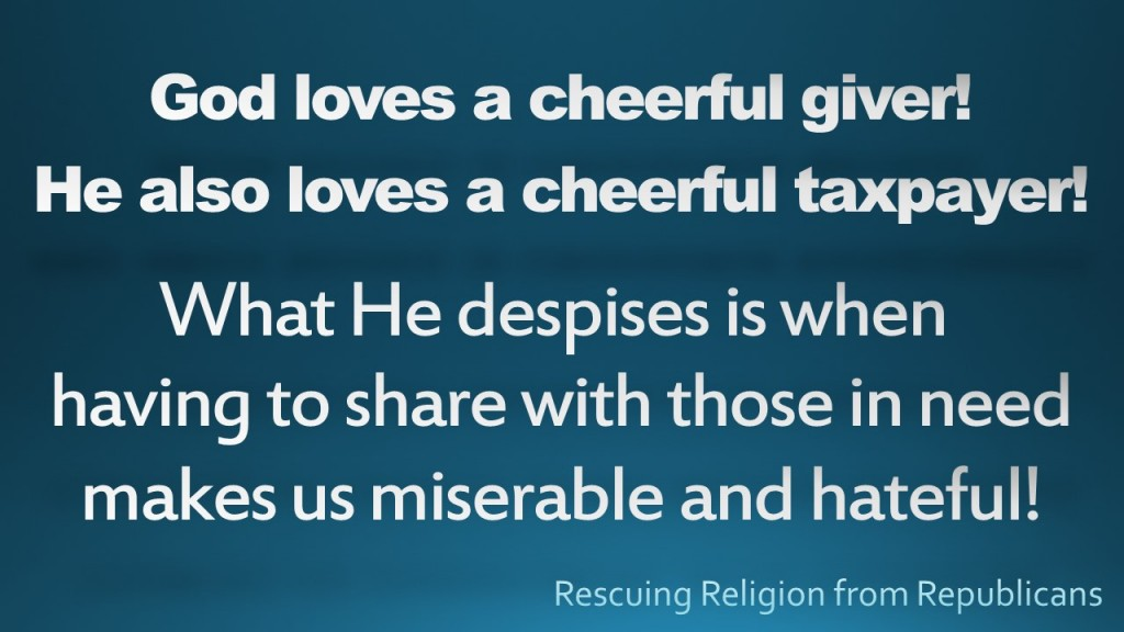 Cheerful giver - cheerful taxpayer