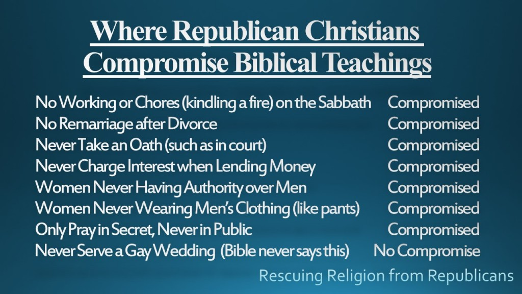 Compromised biblical teachings - gay