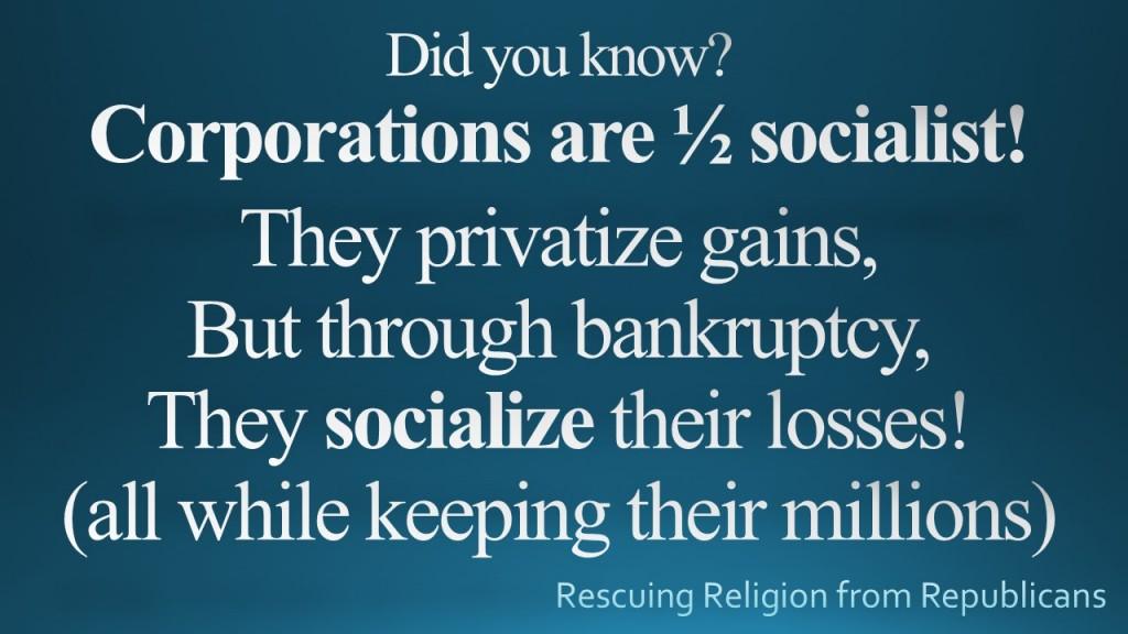 Corporations Half Socialist