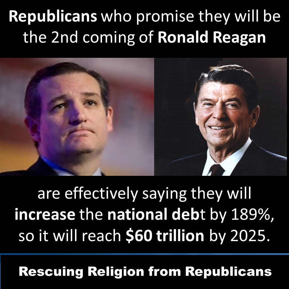 Debt - Republicans 2nd coming of Reagan 189