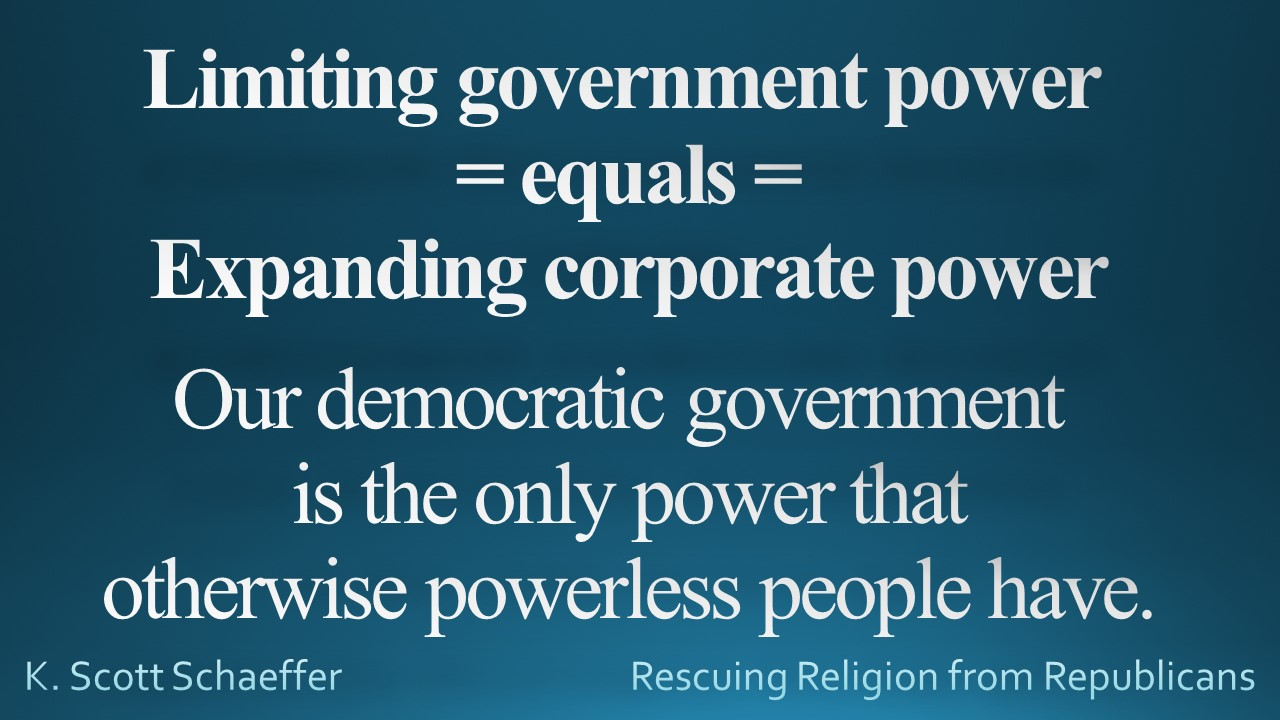 Democracy - givt power vs corp power