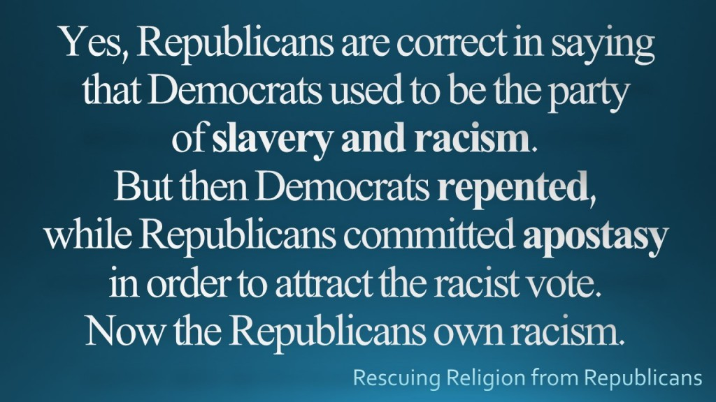 Democrats party of slavery