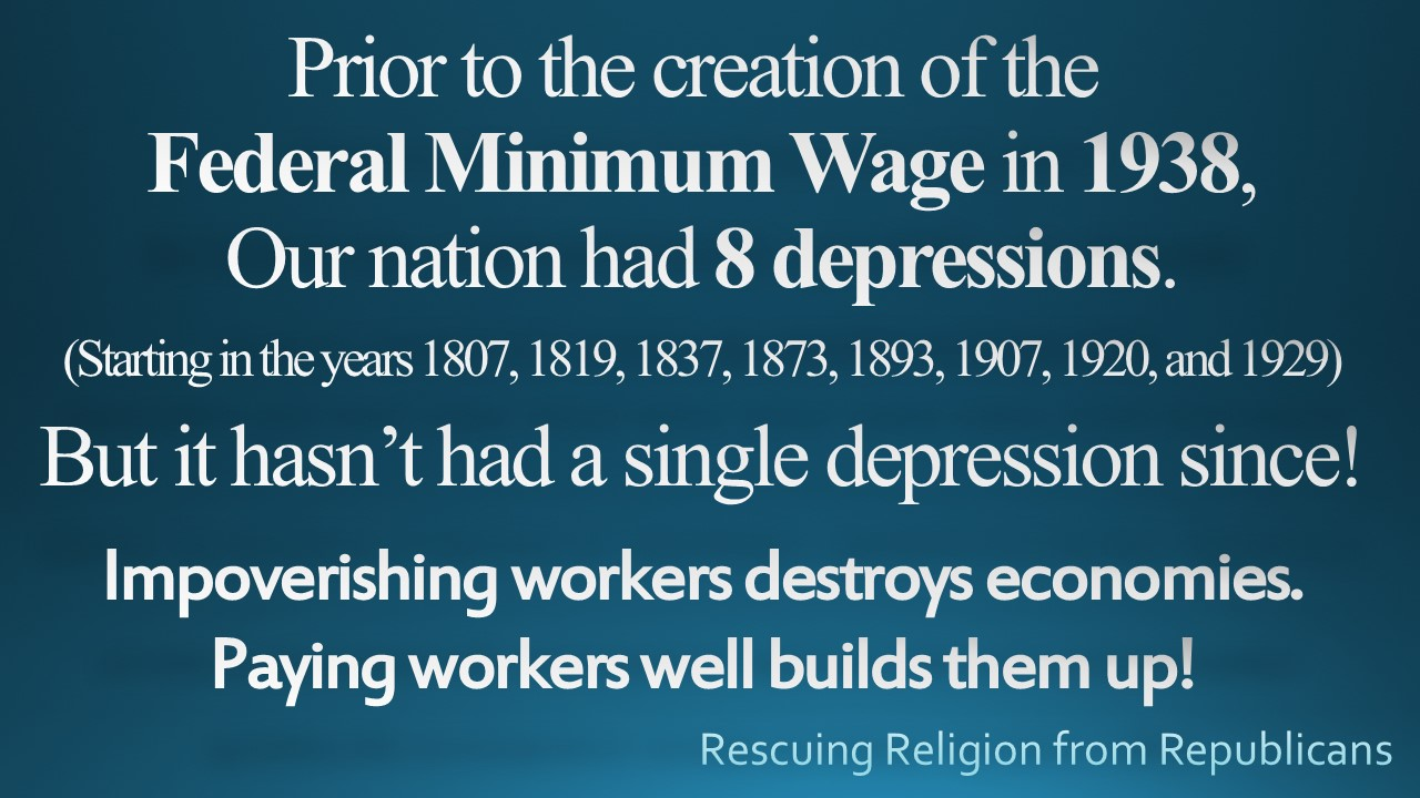 Depressions before minimum wage