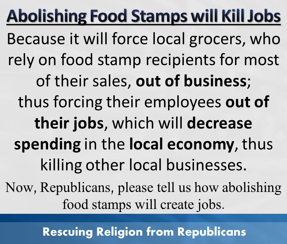 Econ - Abolishing food stamps kills jobs