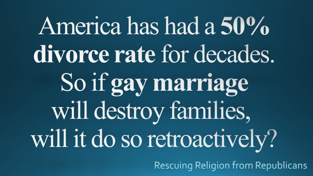 Gay - 50 divorce rate