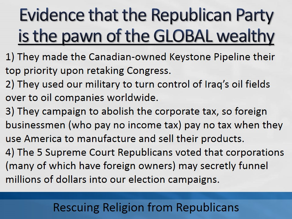 Global Republican 3 points