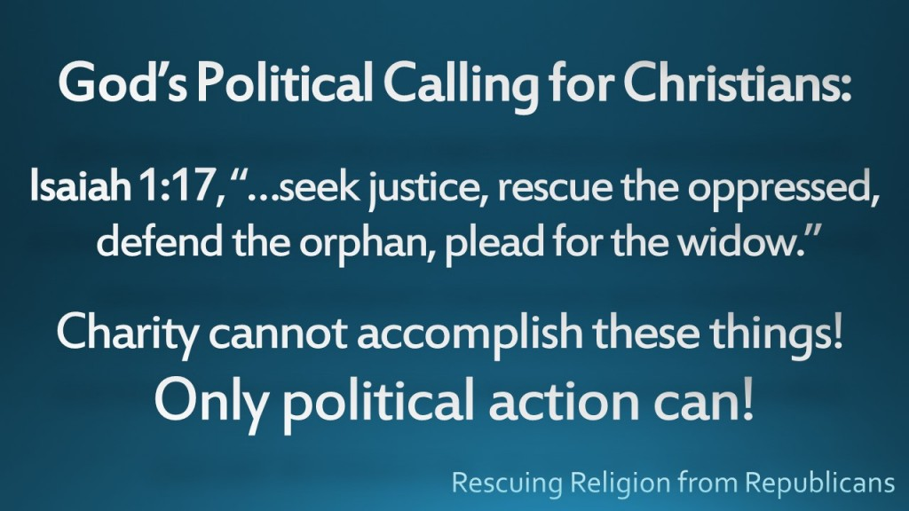 God's political calling for Christians