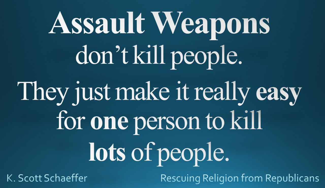 Guns - Assault Weapons one person many people