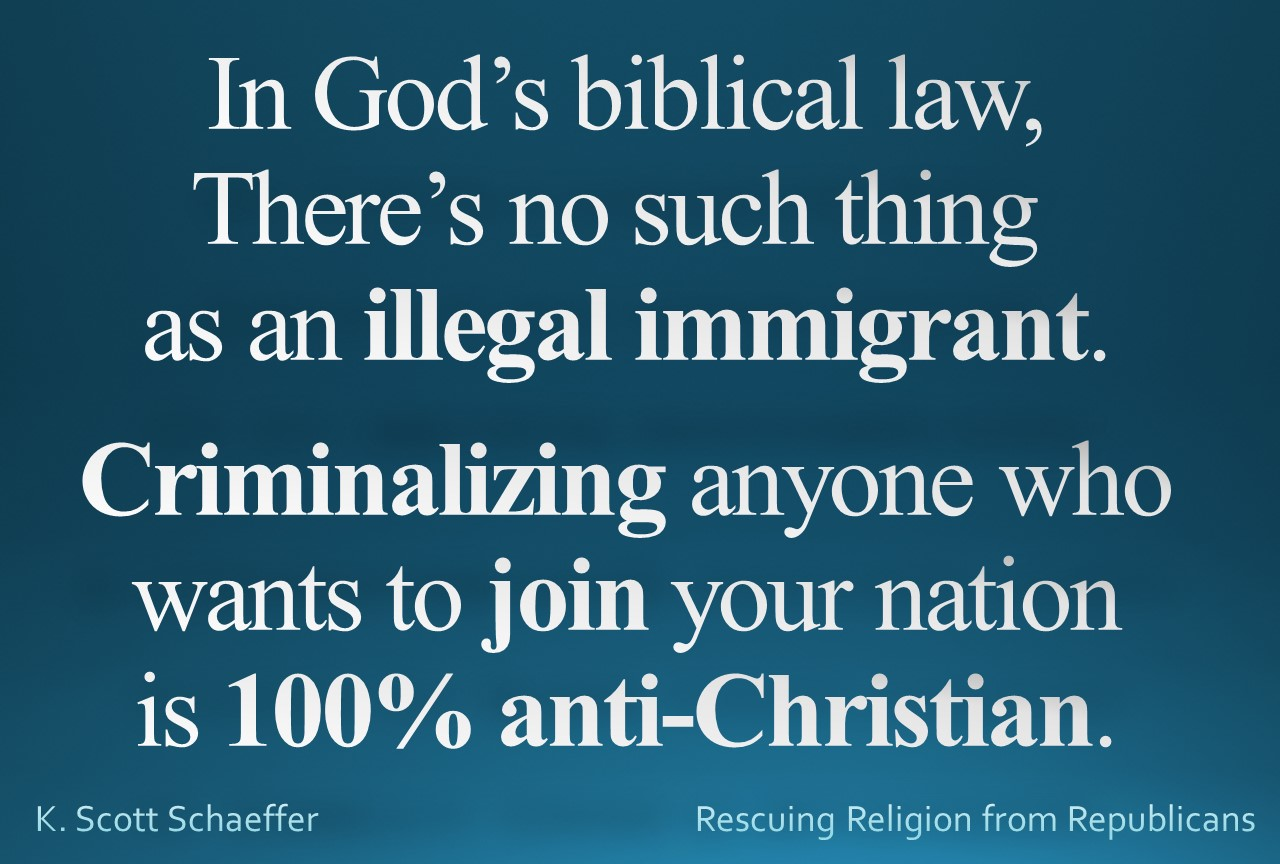 Immigration - 100 percent anti-christian