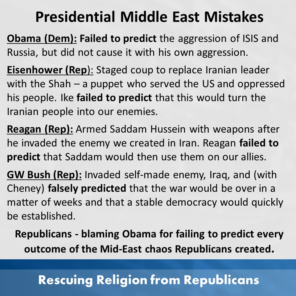Mid east mistakes by presidents