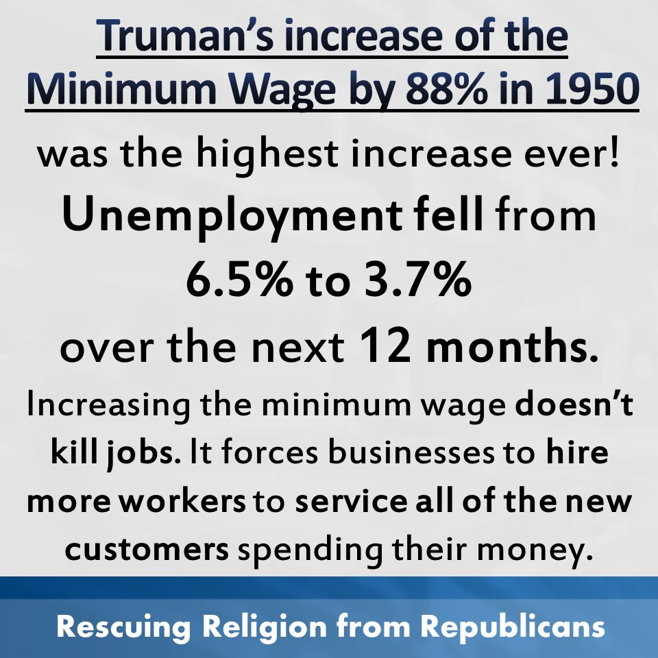 Minimum wage - Truman 1950 UE falls