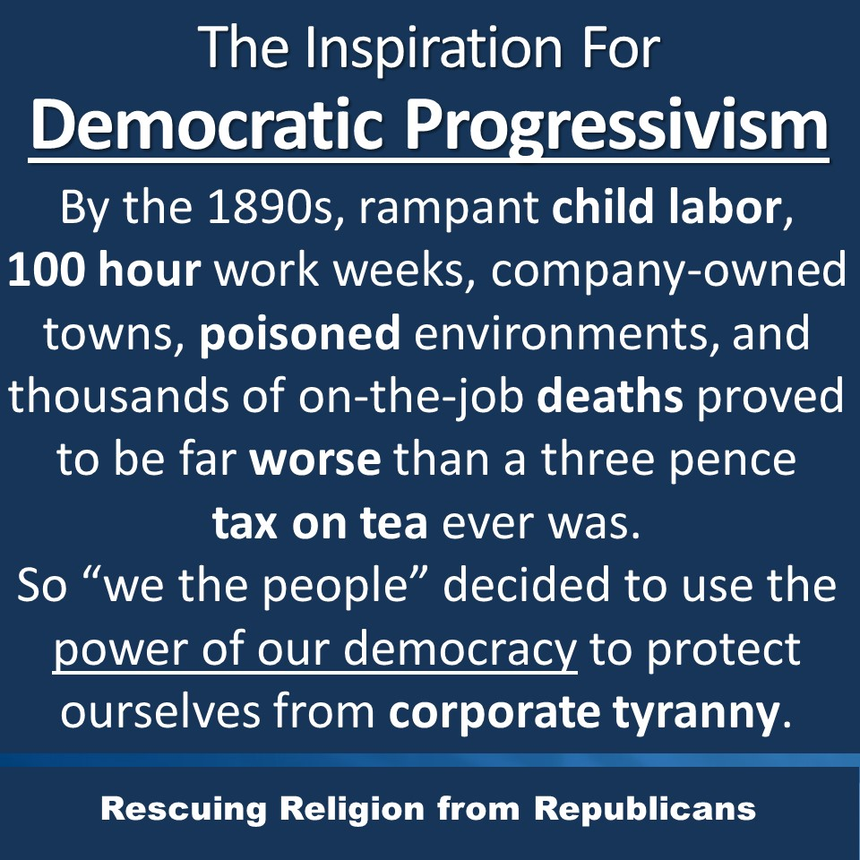Progressivism inspiration -3 pence tax on tea