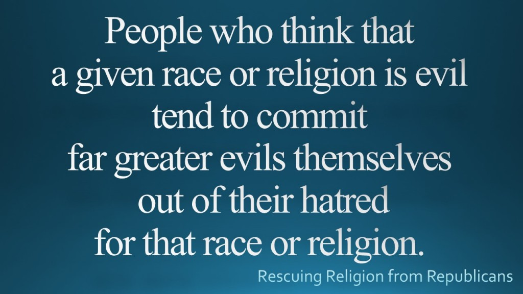 Race or religion evil