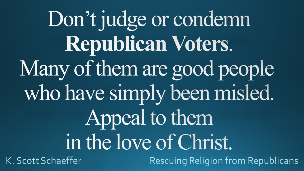 Republican voters - don't judge them
