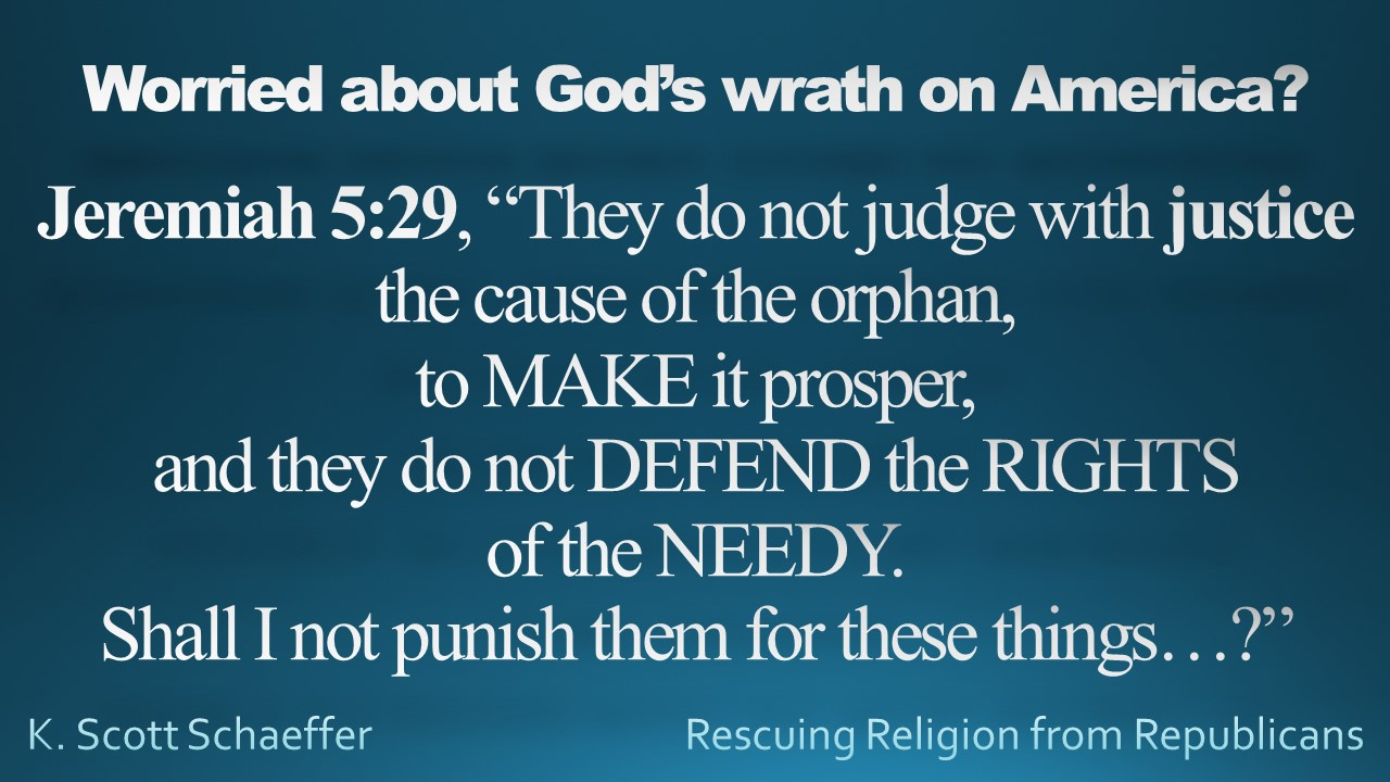 Social Justice...Jeremiah...God's Wrath