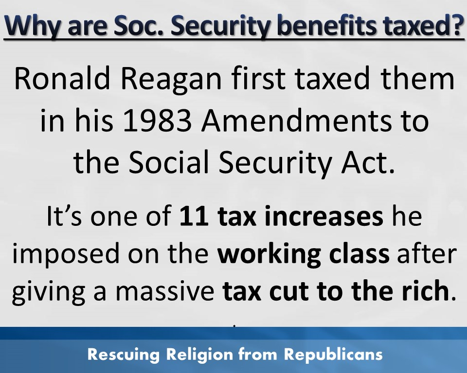 Taxes - Soc Sec Ronald Reagan